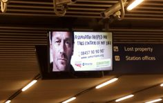 Here is another digital charity poster spotted at London Cannon Street. This one is for the Samaritans. #samaritans #charity #digital #advert