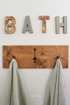 "DIY ""BATH"" LETTERS for less than $10.00"