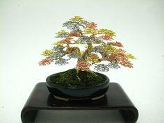 Miniature Bonsai Tree Sculptures Made of Wire - My Modern Metropolis