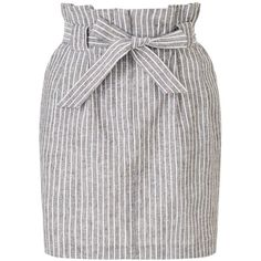 e6e51507887 Miss Selfridge Casual Striped Paperbag Skirt (6230 DZD) ❤ liked on Polyvore  featuring skirts