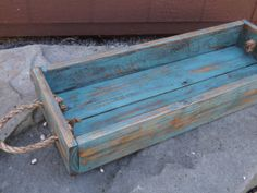 Handcrafted wood planter box centerpiece by PatternedHome on Etsy, $22.00