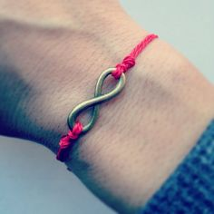 Infinity bracelet-red for valentines day on Etsy, $6.95