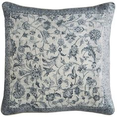 With embroidered flourishes patterned after traditional Delft pottery, our pillow is an instant classic. The ultra-plush texture makes it thoroughly irresistible. It reverses to solid white cotton with tailored, hidden-zipper closure and includes a soft, supportive poly insert to ensure long-lasting comfort.