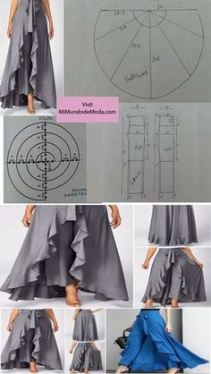 Upcycling Clothes For That Unique Personalized look – DIY Fashion 101 Sewing Pants, Sewing Clothes, Diy Clothes, Easy Sewing Patterns, Clothing Patterns, Dress Patterns, Pattern Sewing, Fashion Sewing, Diy Fashion