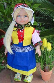 """ee. Dutch Dress for 18"""" dolls"""