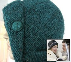 "Free Knitting Pattern for Easy Virtue Cloche - Fanny Liege was inspired by the cloche hat the main character wears in the movie ""Easy Virtue"". Knitted in one piece, from the top down, it's a quick project in bulky yarn.. Pictured project by jcap"