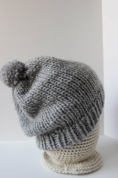Teen/Adult Chunky Slouchy Beanie Hat Classic by RavelledKnits