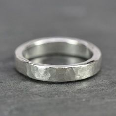 Hammered+Silver+Ring+4.5mm+Wide+Hand+Forged+by+seababejewelry
