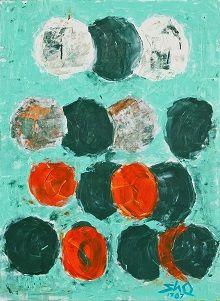 오상훈 Sanghoon Oh/ 산의 원들-이대원 오마주 Circles in mountain-Homage to Daewon Lee/ Acrylic on canvas/ 73x53cm/ 2012
