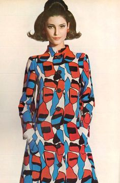Great print > Benedetta Barzini 1967 Vogue