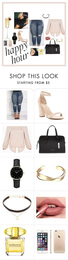 """""""#happyhour"""" by fashionnmia on Polyvore featuring Call it SPRING, BCBGMAXAZRIA, Calvin Klein, ROSEFIELD, Jennifer Zeuner and Versace"""