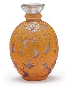 Daum, Cameo Glass Vase, France, ca. 1920.
