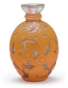 Daum, Cameo Glass Vase, France, ca. 1920.