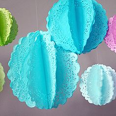 Make your own hanging doilies for parties or anytime.