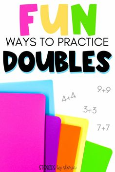 When students have a solid understanding of their doubles facts, it enables them to work on other mental math strategies. In order to do this, kids need many opportunities to practice these math facts. Here are some fun ways to practice doubles. Mental Math Strategies, Math Resources, Math Activities, Math Classroom, Kindergarten Math, Classroom Ideas, Math Workshop, Workshop Ideas, Math Stations