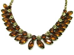 Vintage Necklace Choker Amber and Green by ALLUWANTISHERETODAY, $25.00