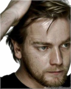 Lumineux Portrait Nadine Laure Art Ewan Mcgregor by naurechevremont.deviantart.com on @DeviantArt