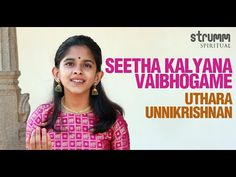 Seetha Kalyana Vaibhogame I Uthara Unnikrishnan I Thyagaraja Slide Guitar, Devotional Songs, Movie Songs, Apple Music, Spirituality, Lord, Bridal, My Love, Celebrities