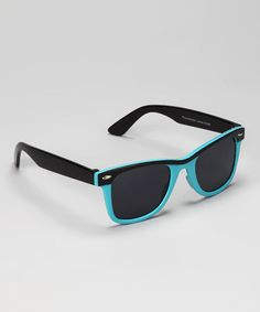 Take a look at this Blue & Black Retro Sunglasses by 365 Fashions on #zulily today!