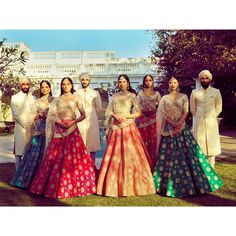 Nice destination wedding collection of Sabyasachi mukherjee design Indian Bridal Lehenga, Indian Bridal Wear, Indian Wear, Indian Style, Indian Dresses, Indian Outfits, Indian Clothes, Desi Clothes, Western Outfits
