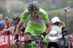 Nicola Boem (Bardiani) on the attack - took well-deserved win (Stage 10) after out-sprinting breakaway companions in Forli.