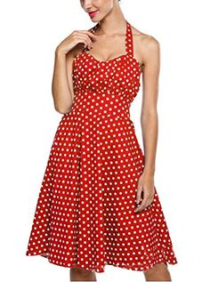 SMITHROAD 1950er Polka Dot Kleider Rockabilly Neckholder Pin Up Tea Pünktchen fifties Gepunktet Rock n Roll Damen SMITHROAD http://www.amazon.de/dp/B0123417G6/ref=cm_sw_r_pi_dp_pQRcwb0830TFX