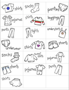 I have created some adorable labels for you or your child to put on her drawers so she can easily keep her clothes organized and maybe even help put away her own laundry.