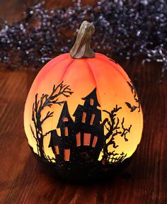 Color-Changing Lighted Pumpkins LTD Commodities Halloween Scene, Halloween Pumpkins, Halloween Decorations, Pumpkin Lights, Witches Brew, Painted Pumpkins, Autumn Theme, Favorite Holiday, Colorful Decor