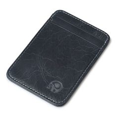 Slim Credit Card Holder Black Solid Leather High Quality Mini Wallet ID Case Purse Bag Pouch New Dompet Kartu #7928