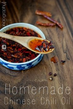 Homemade Chinese Chili Oil 1 ounce whole dried Hot Thai Chiles ½ Tablespoon Szechuan Peppercorns ½ cup organic virgin coconut oil ½ cup avocado oil (or light olive oil) pinch kosher salt