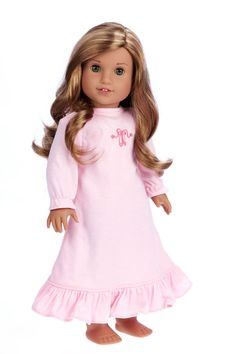 bd3418b1885 Sweet Dreams - 18 inch American Girl Doll Clothes - Pink Nightgown