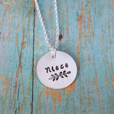 Check out this item in my Etsy shop https://www.etsy.com/listing/478022205/niece-necklace-niece-gift-for-niece