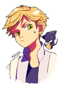 Adrien and Plagg- Miraculous Tales of Ladybug & Chat Noir