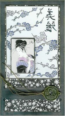 The Zen of Oriental Card Making: Tall slotted Oriental Card - using kits in a different way