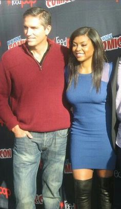 Jim Caviezel and Taraji P. Henson