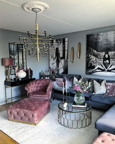 Living Room Designs elegant small living room decor ideas for you to get inspired Glam Living Room, Living Room Decor Cozy, Interior Design Living Room, Living Room Designs, Bedroom Decor, Cozy Living, Living Rooms, Living Room Inspiration, Home Decor Inspiration