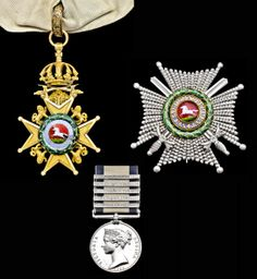 1.The Medals Awarded to Rear Admiral of the Blue Sir Thomas Ussher, Royal Navy (sold for £138,000) - WORLD RECORD FOR A NAVAL GENERAL SERVICE MEDAL AT AUCTION (Spink London, 25 July 2013)