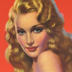 This woman was on the cover of Modern Romances in November 1936. She was painted by Andrew Loomis