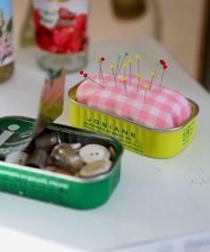Sardine Can Pincushion & Notion Holder