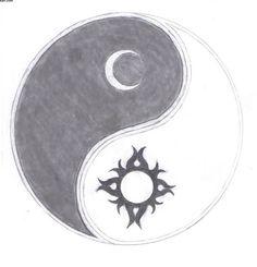 Sun Moon Yin Yang Tattoo Sketch