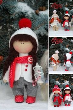 Christmas doll Winter doll Fabric doll Baby doll Tilda doll