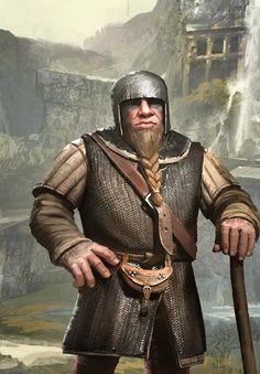 Dwarven Skirmisher (Gwent Card) - The Witcher Wild Hunt Fantasy Dwarf, Fantasy Warrior, Fantasy Rpg, Medieval Fantasy, Witcher Art, The Witcher 3, Dnd Characters, Fantasy Characters, Character Portraits