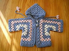 Ravelry: Project Gallery for Bev's Hexagon Baby Jacket pattern by Beverly A. Qualheim