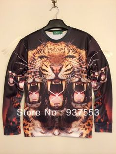 bat norton iswag Russia hiphop gugu 3D swearshirt sexy chic cool 2014 new arrival fashion unisex tiger roar geek rock $18.00
