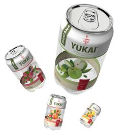 "Packaging design for the brand of soft drinks ""yukai"". Designed by: Adrián Salgado, Mexico."
