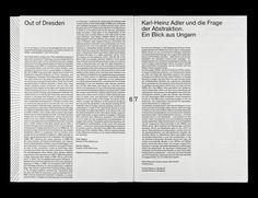 Kunst im System. System in der Kunst (Art in the System. The System in Art) – Karl-Heinz Adler  Designed by Markus Dreßen