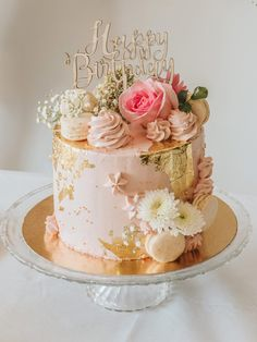 Salmon and mozzarella cake - Clean Eating Snacks 60th Birthday Cake For Ladies, Birthday Cake For Women Elegant, Elegant Birthday Cakes, Birthday Cake With Flowers, 16 Birthday Cake, Beautiful Birthday Cakes, 50th Birthday Cake Designs, Elegant Cakes, Bolo Chalkboard