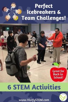 STEM activities are perfect icebreakers and team challenges to promote collaboration, teamwork, communication, and problem solving. This packet contains 5 teamwork challenges that are great for back to school or as icebreakers for a new group of students. The sixth activity is a more in-depth engineering design challenge that uses the complete design process. Science Topics, Teaching Science, Teaching Tips, Learning Resources, Teamwork Activities, Hands On Activities, Stem Activities, Middle School, Back To School