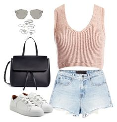 """""""Sem título #4932"""" by fashionnfacts ❤ liked on Polyvore featuring Alexander Wang, Carven, Sans Souci, Mansur Gavriel, Candie's and Christian Dior"""