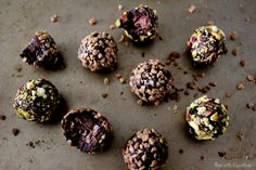 Decadent, crunchy, salty orange chocolate truffles coated in salty crunchy toffee bits. Decadent and will satisfy all chocoholics!
